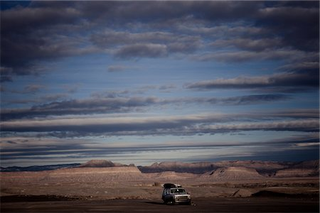 Car Parked on Remote Landscape Stock Photo - Rights-Managed, Code: 822-05555138