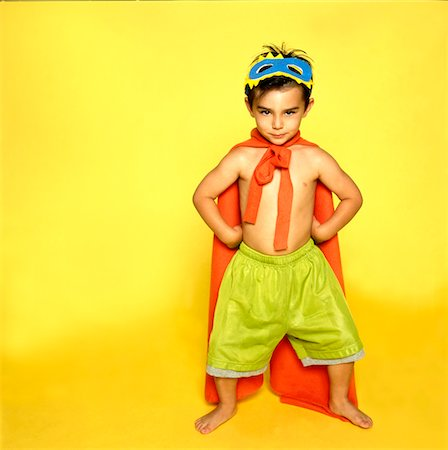 superhero costume - Boy in Superhero Outfit Stock Photo - Rights-Managed, Code: 822-05555198