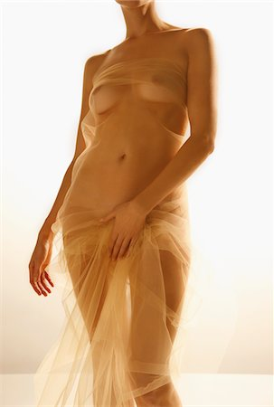 female nude breast sexy - Woman Wrapped in Golden Veil Stock Photo - Rights-Managed, Code: 822-05948337