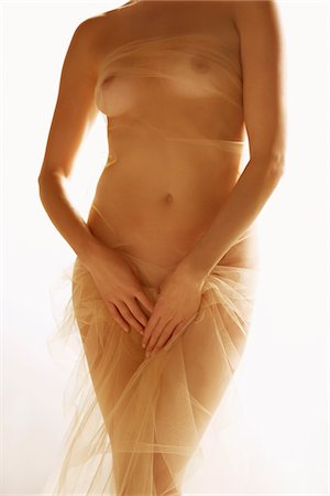 female nude breast sexy - Woman Wrapped in Golden Veil Stock Photo - Rights-Managed, Code: 822-05948361