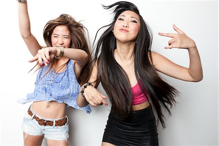 dancing - Teenage Girls Dancing and Having Fun Stock Photo - Rights-Managed, Code: 822-05948544