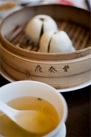 dumplings steamer - Soup and Steamed Dumplings Stock Photo - Rights-Managed, Code: 822-05948590