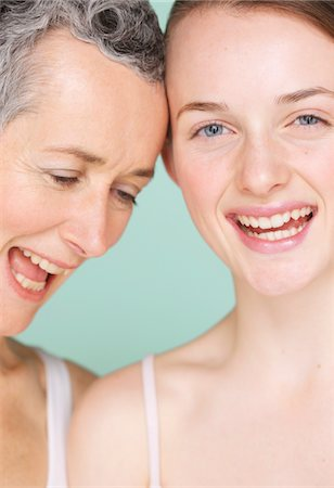 daughter middle-aged mother women young adults - Smiling Mother and Daughter Stock Photo - Rights-Managed, Code: 822-05948593