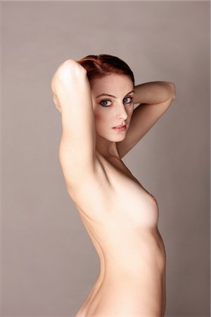 female nude breast sexy - Nude Woman with Arms behind Head Stock Photo - Rights-Managed, Code: 822-05948665