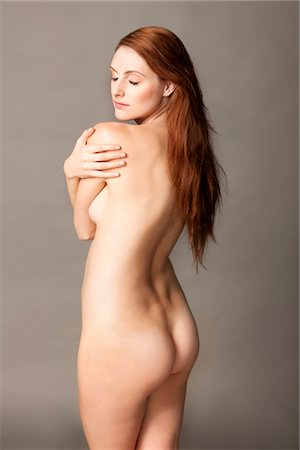 female nud - Nude Woman Looking over shoulder Stock Photo - Rights-Managed, Code: 822-05948730