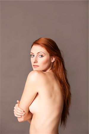 Nude Woman Looking over shoulder Stock Photo - Rights-Managed, Code: 822-05948731