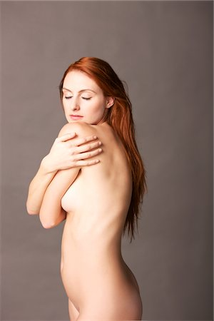 Nude Woman Looking over shoulder Stock Photo - Rights-Managed, Code: 822-05948782
