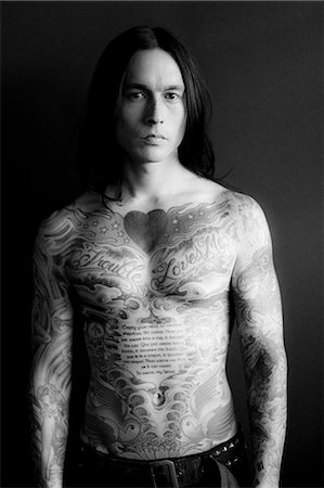 Portrait of Man Covered in Tattoos Stock Photo - Rights-Managed, Code: 822-06302489