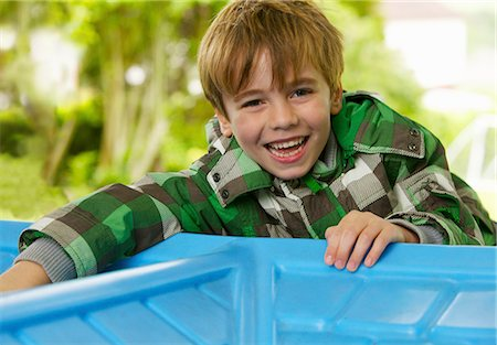 recreation - Laughing Young Boy Stock Photo - Rights-Managed, Code: 822-06302659