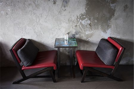 red chair - Restaurant, Bar Interior Stock Photo - Rights-Managed, Code: 822-06302710