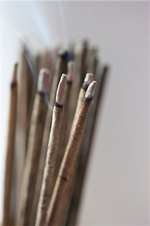 stick - Bunch of Burning Incense Sticks Stock Photo - Rights-Managed, Code: 822-06302739