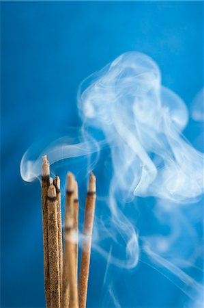 stick - Bunch of Burning Incense Sticks Stock Photo - Rights-Managed, Code: 822-06302771