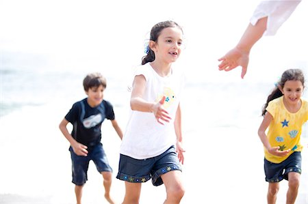 Children Coming out of Sea Stock Photo - Rights-Managed, Code: 822-06702198