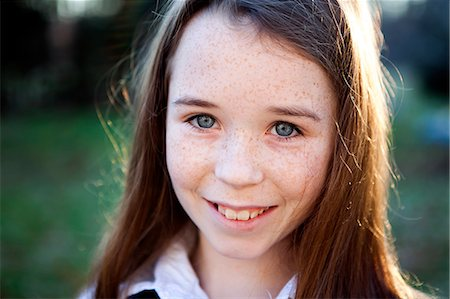 Portrait of Girl Smiling Stock Photo - Rights-Managed, Code: 822-06702435