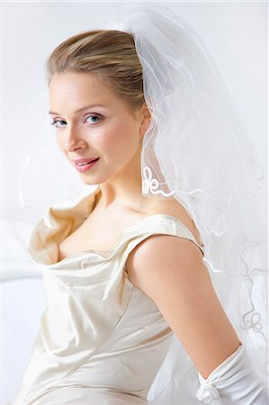Portrait of Bride Stock Photo - Rights-Managed, Code: 822-06702477