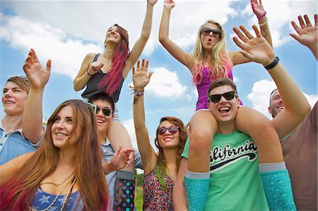 Group of Teenagers Cheering at Music Festival Stock Photo - Rights-Managed, Code: 822-06702493