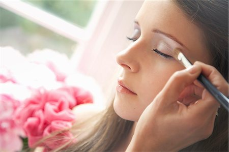 Teenage Girl Having Eyeshadow Applied Stock Photo - Rights-Managed, Code: 822-07117439