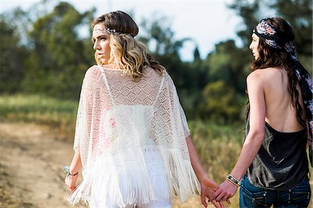 Back View of Two Women Outdoors Stock Photo - Rights-Managed, Code: 822-07117505