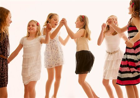 Group of Girls Dancing Stock Photo - Rights-Managed, Code: 822-07117501