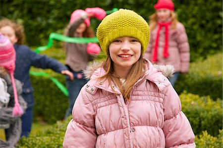 Smiling Young Girl Outdoors Stock Photo - Rights-Managed, Code: 822-07117557