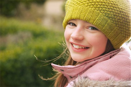 Smiling Young Girl Outdoors Stock Photo - Rights-Managed, Code: 822-07117568