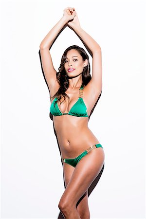 Woman Wearing Green Bikini Stock Photo - Rights-Managed, Code: 822-07355485