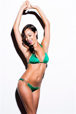 Woman Wearing Green Bikini Stock Photo - Rights-Managed, Code: 822-07355486