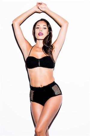 Woman Wearing Black Bikini Stock Photo - Rights-Managed, Code: 822-07355490