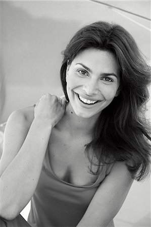 Portrait of Woman Smiling Stock Photo - Rights-Managed, Code: 822-07562604