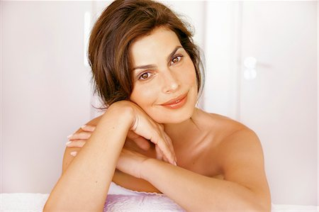 Close up Portrait of Woman Smiling Stock Photo - Rights-Managed, Code: 822-07562617