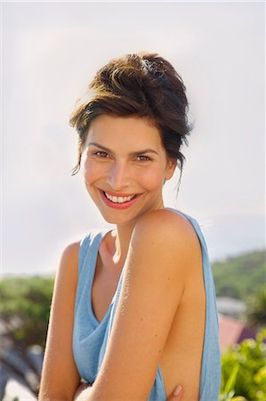 portrait smile caucasian one - Smiling Woman Outdoors Stock Photo - Rights-Managed, Code: 822-07562611