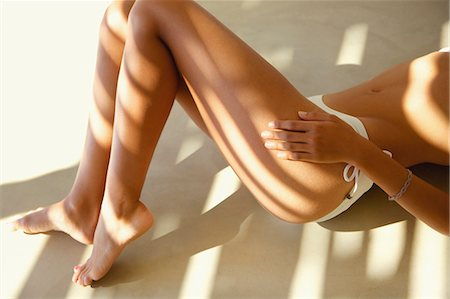 female feet close up - Woman Wearing Bikini Briefs, Mid and Low Section Stock Photo - Rights-Managed, Code: 822-07562730