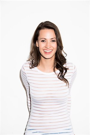 Portrait of Woman Smiling Stock Photo - Rights-Managed, Code: 822-07562786