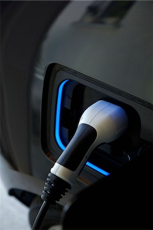 Electric Car Charging, Close-up View Stock Photo - Rights-Managed, Code: 822-07708469
