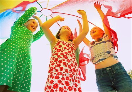 Children Playing under Parachute Stock Photo - Rights-Managed, Code: 822-07708461