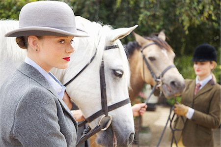 equestrian - Profile of Young Woman with Horse Stock Photo - Rights-Managed, Code: 822-07840875