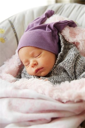 Baby Girl Sleeping in Crib Stock Photo - Rights-Managed, Code: 822-08026274