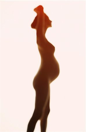 Silhouette of Pregnant Woman, Side view Stock Photo - Rights-Managed, Code: 822-08122449