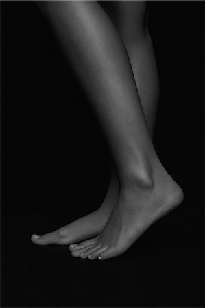 female feet close up - Side View of a Woman Legs and Feet, Low Section Stock Photo - Rights-Managed, Code: 822-08353669