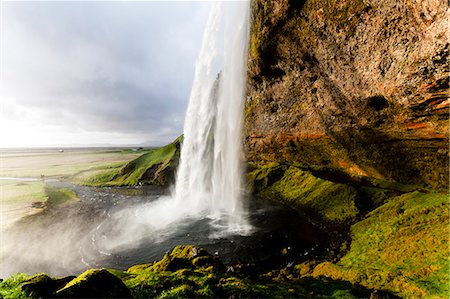 Seljalandsfoss Waterfall, Iceland Stock Photo - Rights-Managed, Code: 822-08630443