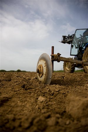 plow - Agricultural field with tractor Stock Photo - Rights-Managed, Code: 822-02315754