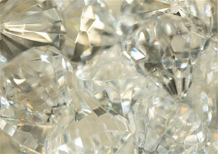 Extreme close up of large diamonds Stock Photo - Rights-Managed, Code: 822-03406790