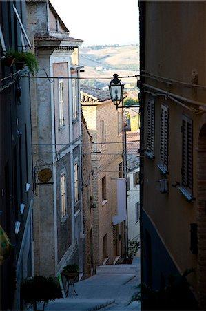 Narrow street in Potenza Picena - Italy Stock Photo - Rights-Managed, Code: 822-03406848