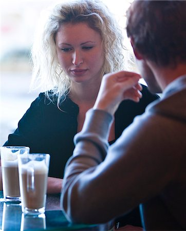 sad lovers break up - Close up of a young couple sitting in a cafe talking Stock Photo - Rights-Managed, Code: 822-03407019
