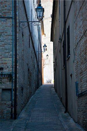 Cobblestone street in Potenza Picena - Italy Stock Photo - Rights-Managed, Code: 822-03407081