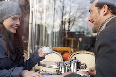 Young couple at cafe, Paris, France Stock Photo - Rights-Managed, Code: 822-03485275