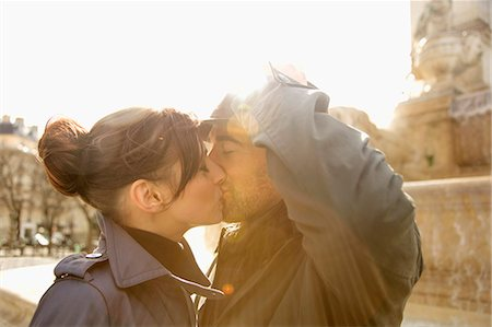 Close up of a couple kissing Stock Photo - Rights-Managed, Code: 822-03485299