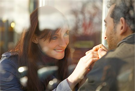 Close up of a couple looking at each other Stock Photo - Rights-Managed, Code: 822-03485317