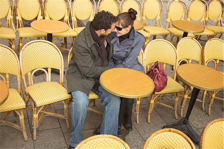 Young couple at outdoor cafe, Paris, France Stock Photo - Rights-Managed, Code: 822-03485363