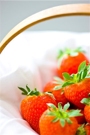 Close up of strawberries in a basket Stock Photo - Rights-Managed, Code: 822-03485495